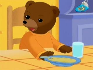 Приключения бурого медвежонка - 36. Бурый медвежонок не хочет есть суп